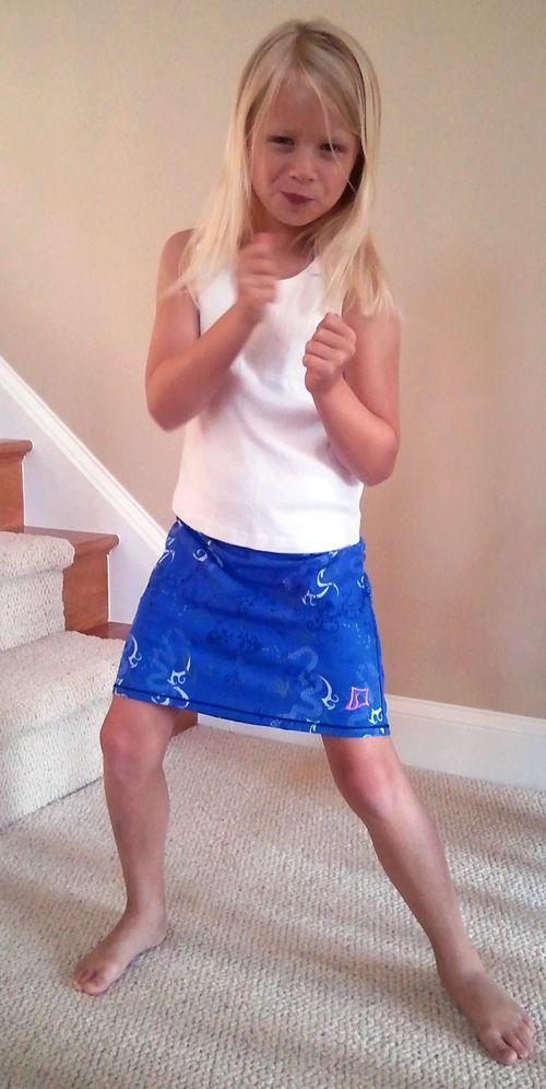 Sammie in skirt